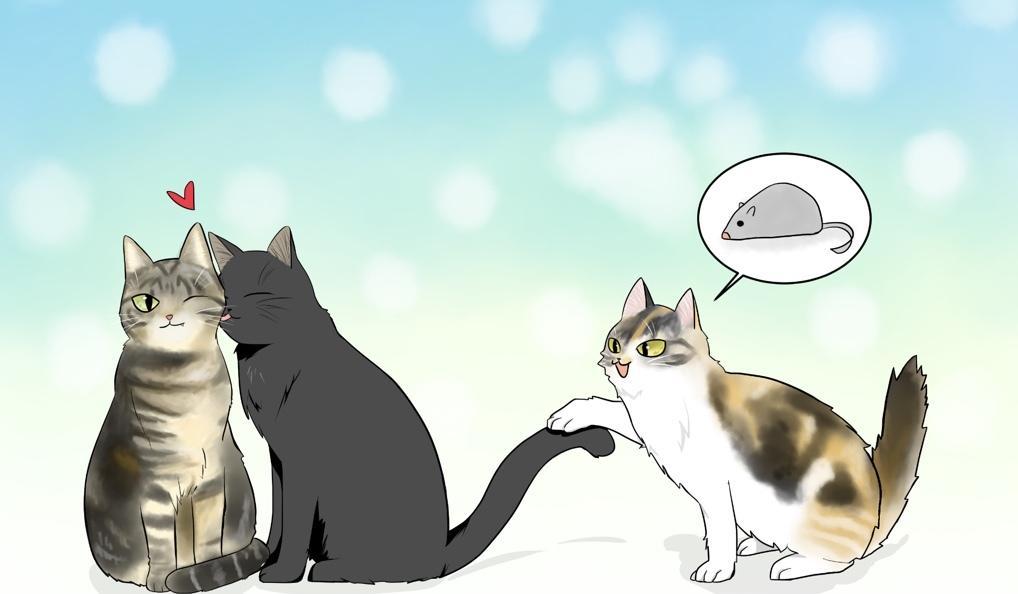 漫画風の猫をカラーで描きます あなたの猫ちゃんを可愛く綺麗に描かせていただきます。