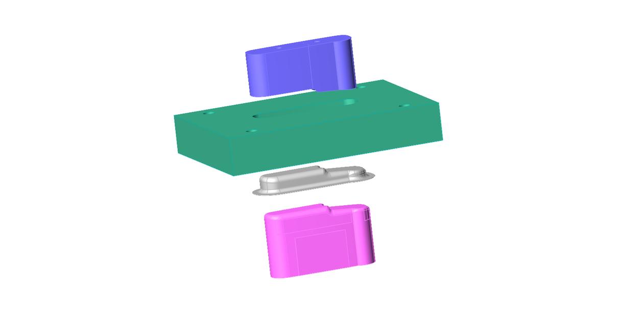 板金プレス製品、金型部品の3Dデータ作成を請負ます スプリングバックを見込んだ形状作成も可能です。 イメージ1