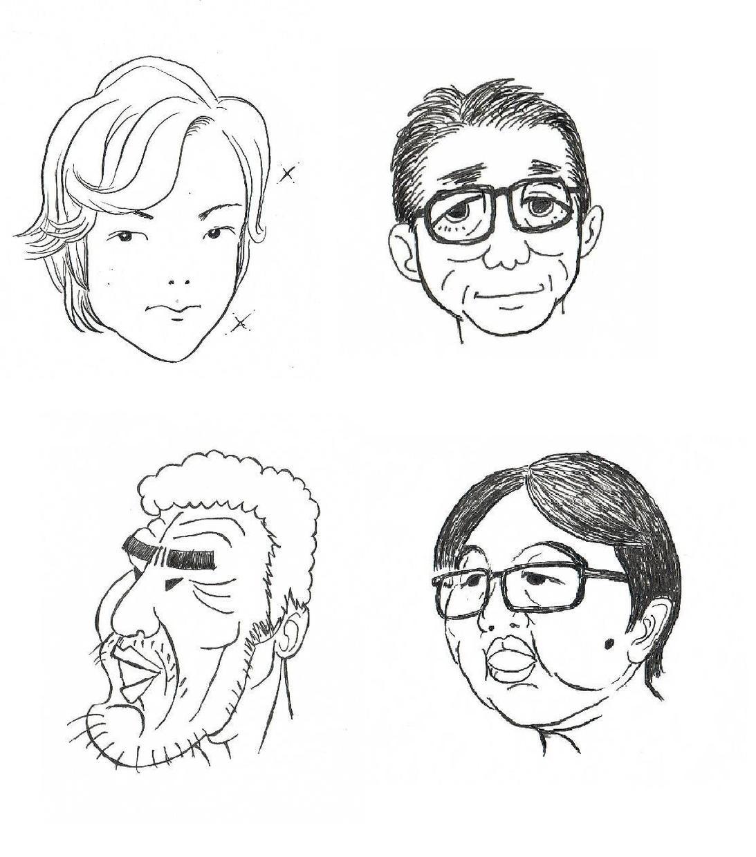 リアル表現からコミック調まで☆完全手書き似顔絵&イラスト承ります。