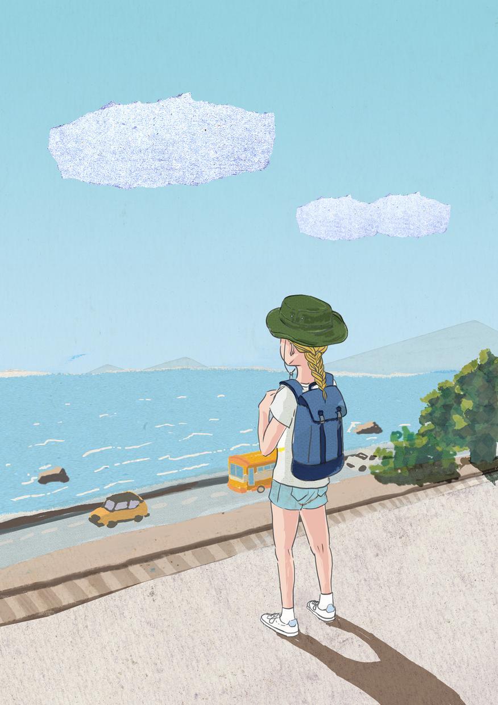 ペン、水彩画でイラストを描きます 人物、動物、建物など、オシャレでかっこよく、かわいく描きます