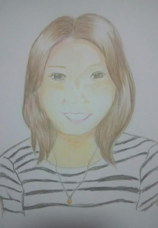 水彩色鉛筆で似顔絵お描きします お祝いなどの記念におすすめです!