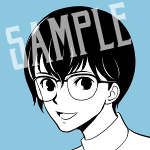 シンプルなコミックタッチのSNS用アイコン描きます 黒+カラー1色のシンプル・クールなアイコンをお描きします。