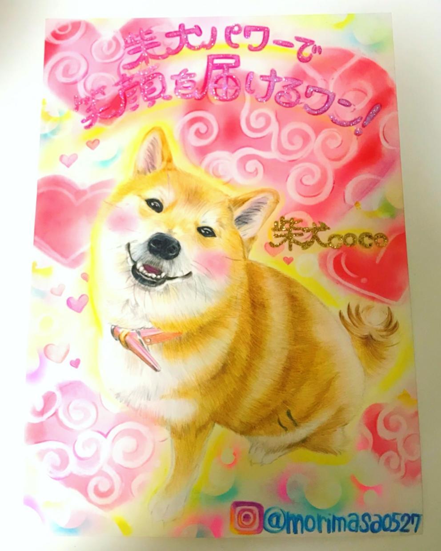 愛犬、ペットの似顔絵書きます 大切な家族と一緒に!!色鉛筆のリアルタッチな似顔絵です!