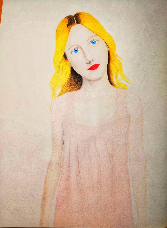 リアル系イラスト描けます 少女美人画少女描けます トローニー、理想少女美人、理想美的理想美、美を感じる絵です。