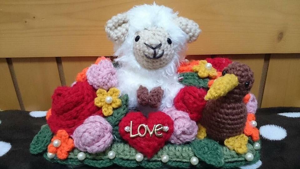 オーダーメイドでかぎ編みのリングピロー作ります お好きなデザインや、キャラクターなどお伝えください! イメージ1