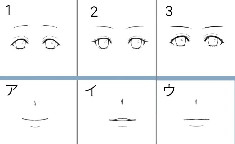 パーツ選択系アイコン(女の子Ver.)描きます 画像のサンプルの中からお好きなパーツを組み合わせてください!