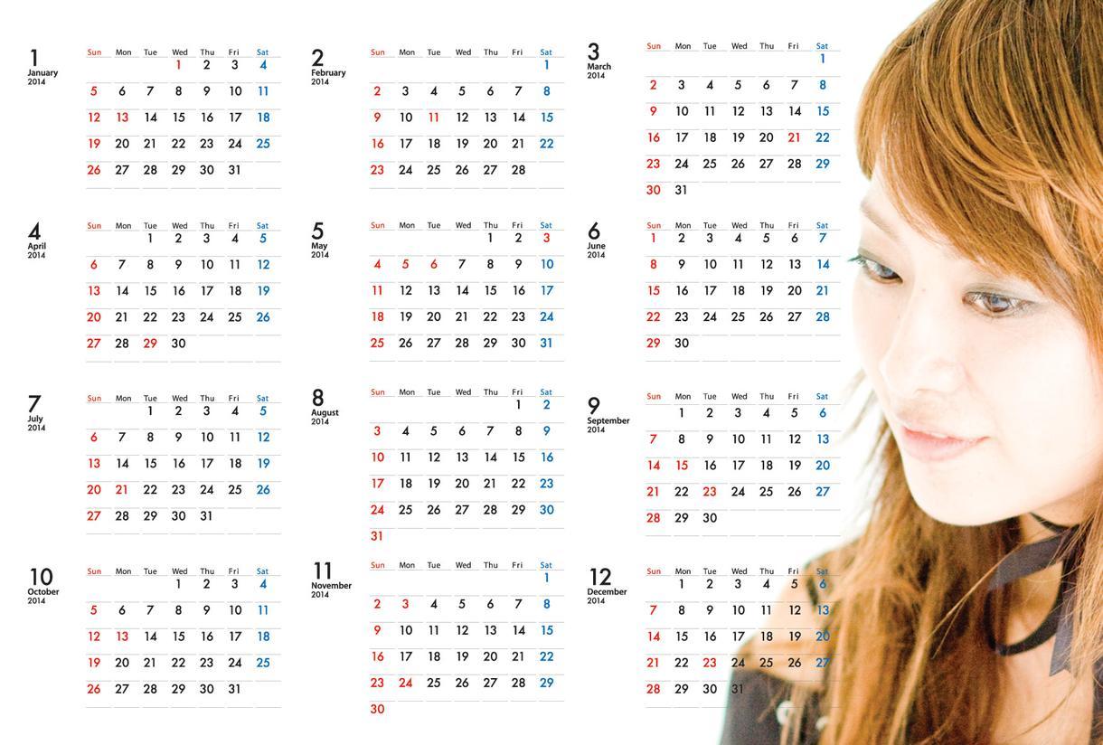 ◆2015年版ポストカードカレンダーの版下作ります! イメージ1