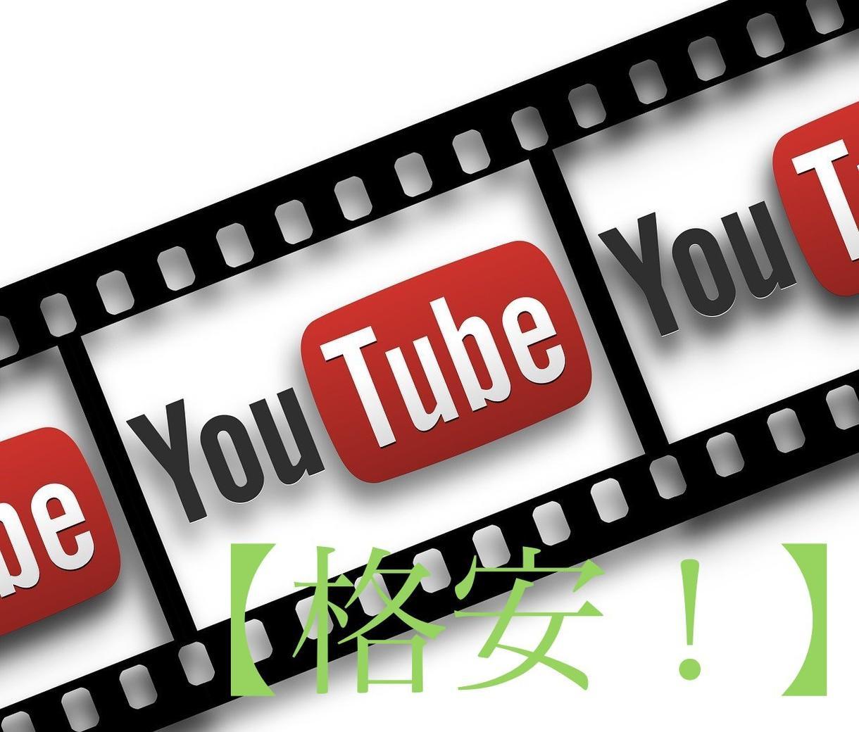 Youtube 用の動画編集します 【初心者】練習も兼ねて低価格で!