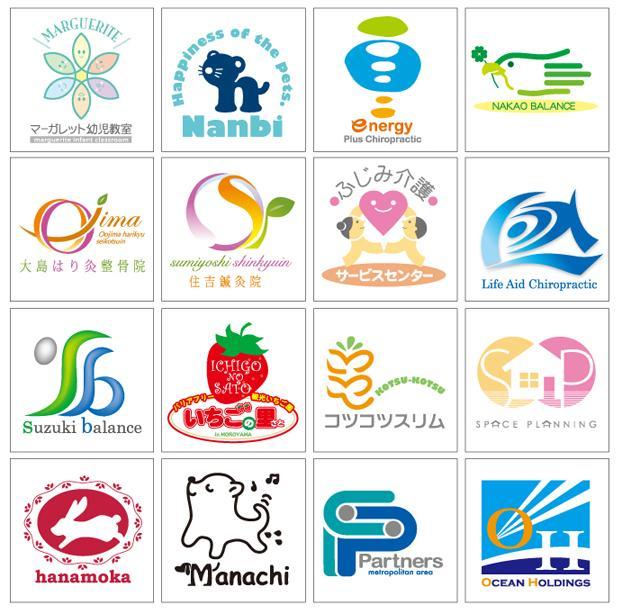 制作実績多数!プロデザイナーがロゴをデザインします あなたにマッチした色合いや方向性などアドバイスします!