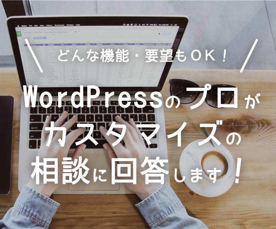 Wordpressのカスタマイズ相談のります どんな機能・要望でもOK!現役webエンジニアによるサポート