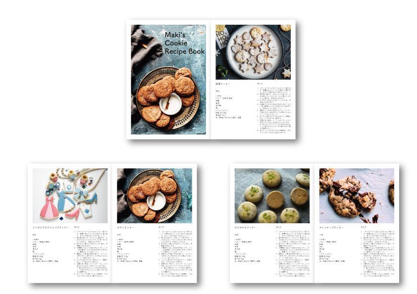 A4サイズ(PDF納品)のレシピブック作ります お料理教室の先生や、趣味でレシピをまとめたい方にオススメです