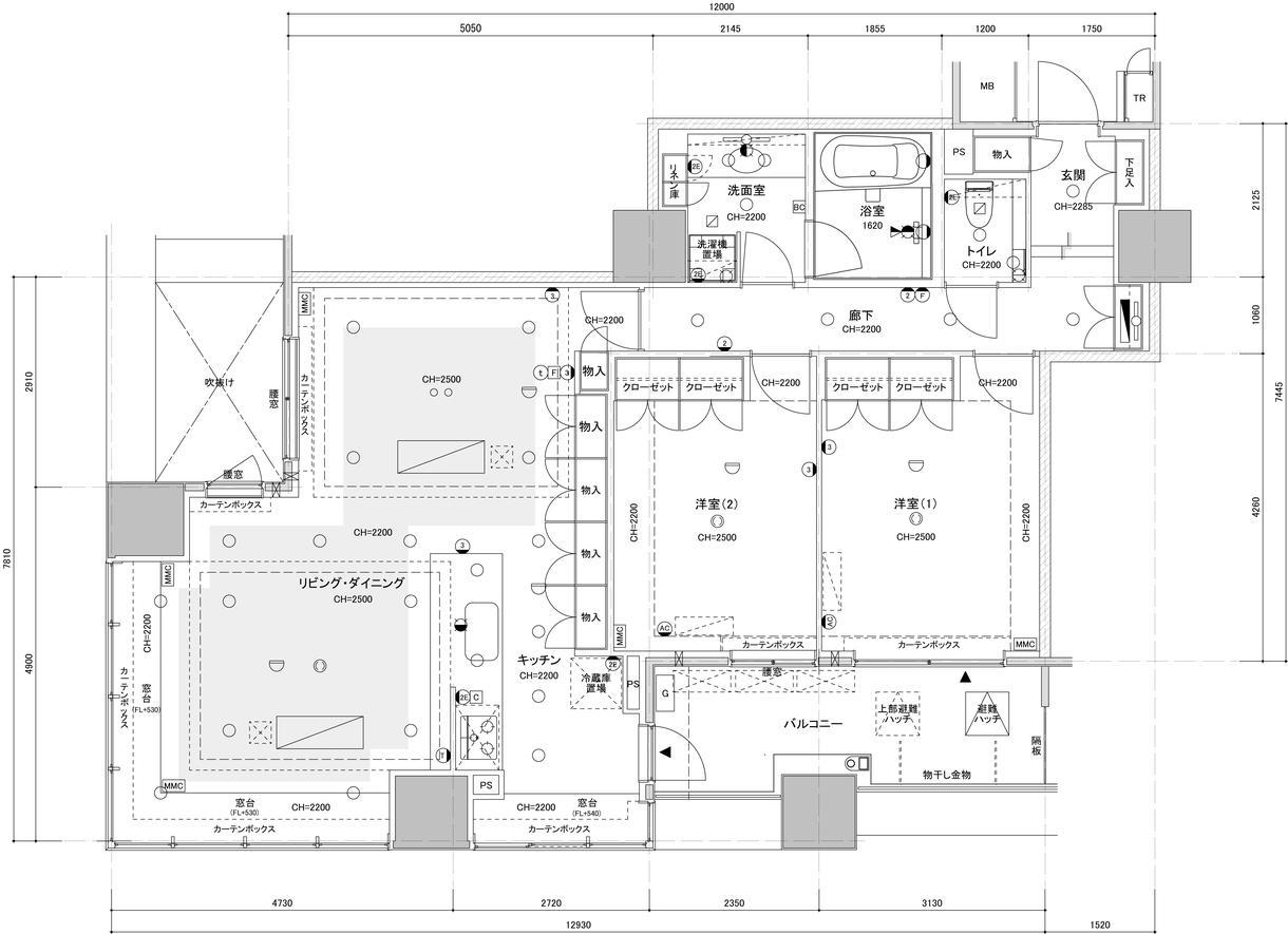 マンション平面図作成致します 手描き、PDF図面をCAD化致します イメージ1