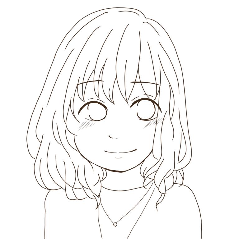 あなたを少女漫画の主人公風にお描きします 何度でも修正して納得いく似顔絵を!