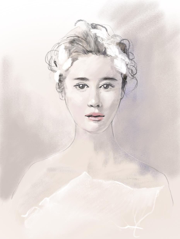 丹精込めてパステル画調で描きます 似顔絵とは違った 見る人を惹きつけさせる人物画いかがですか?