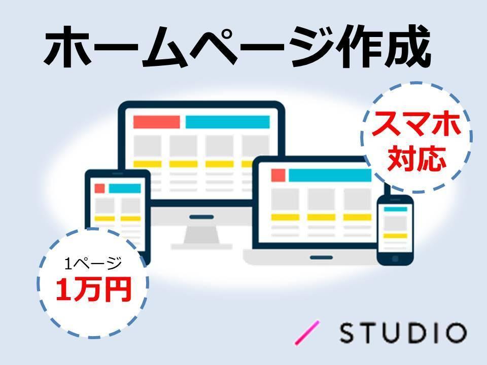 まずは形から!安価でホームページ作ります STUDIOを使ってホームページ作ります!作り方も教えれます イメージ1