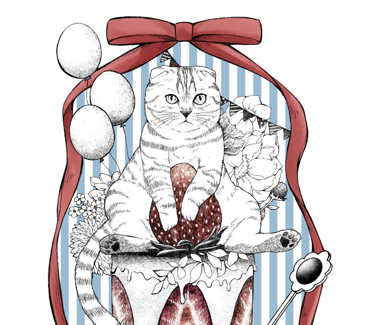 大人可愛い動物デザインします ペットや好きな動物で!アイコンやポストカードはいかがですか? イメージ1