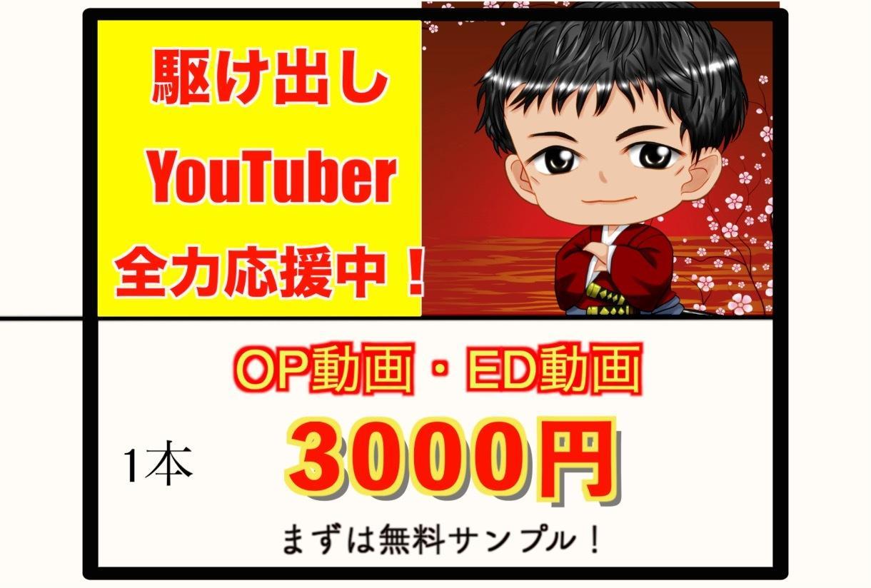 YouTubeのOP/ED動画を制作します 駆け出しYouTuberさん必見 イメージ1
