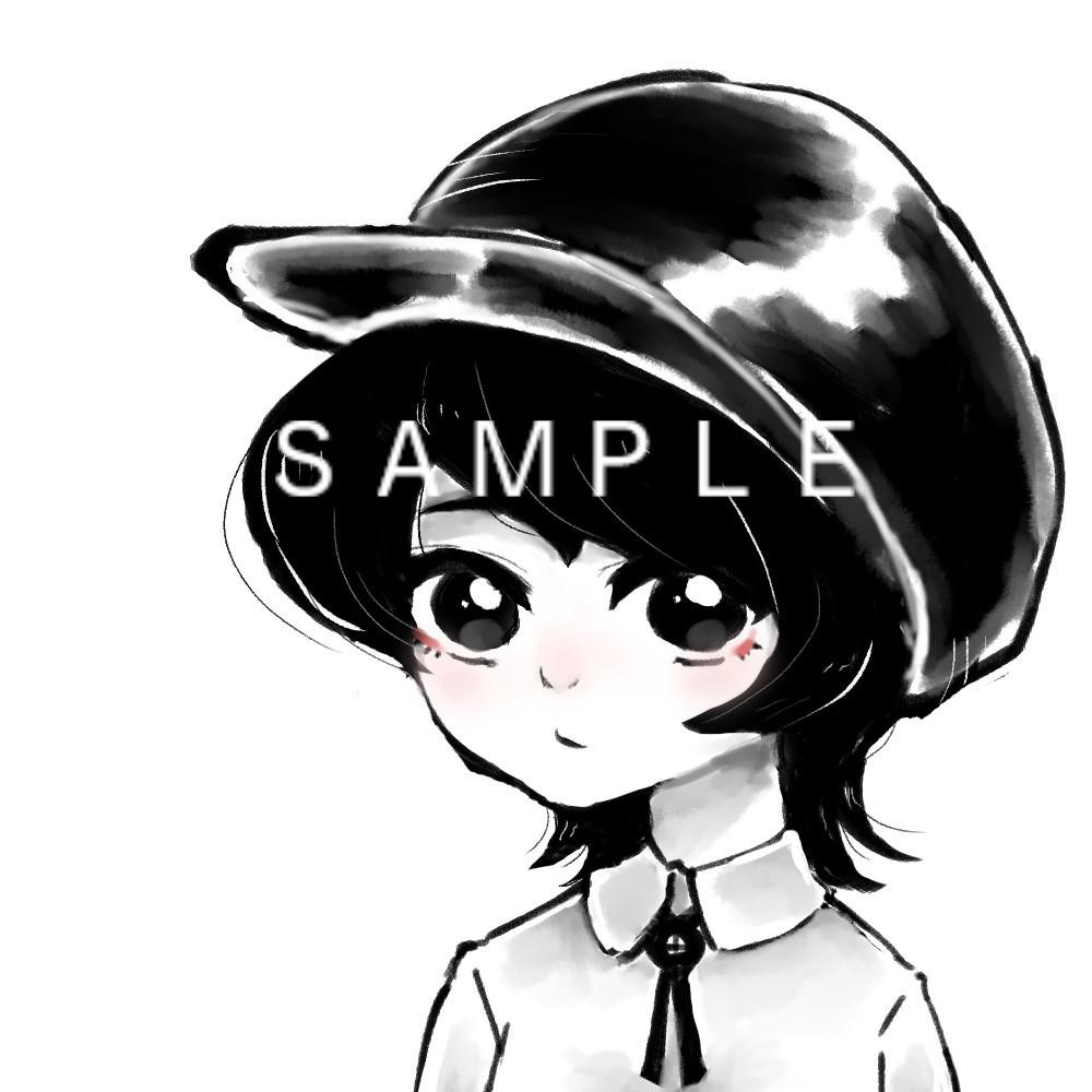 即日納品可 素早くアイコンお描きします 白黒でシンプルなアイコンを描かせて頂きます!
