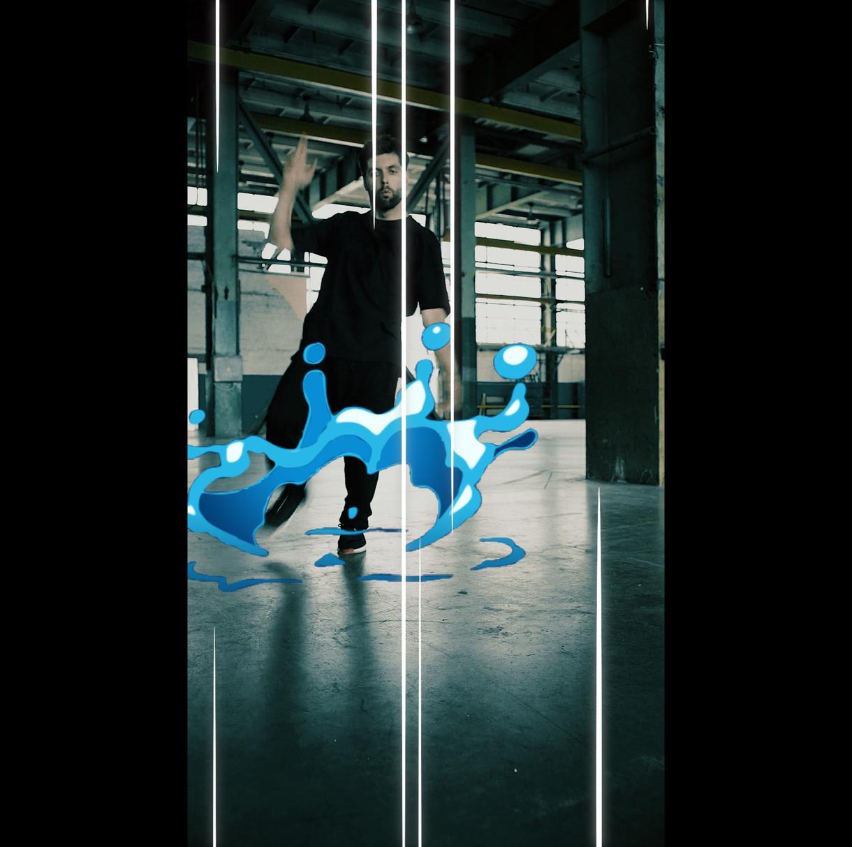 SNS映え!ファッショナブルな動画を作成いたします トレンドでもある液体的な2Dアニメーションを実写に合成します
