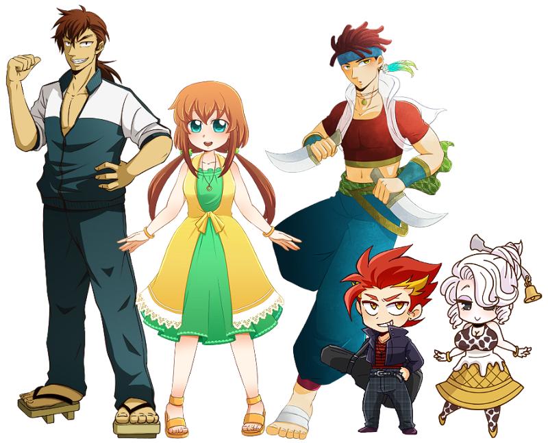 フリーゲームのキャラクターデザインをします【+表情差分3種】
