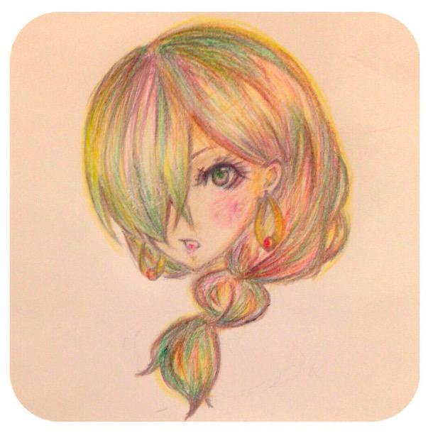 【色鉛筆】アイコン描きます【アナログを加工】