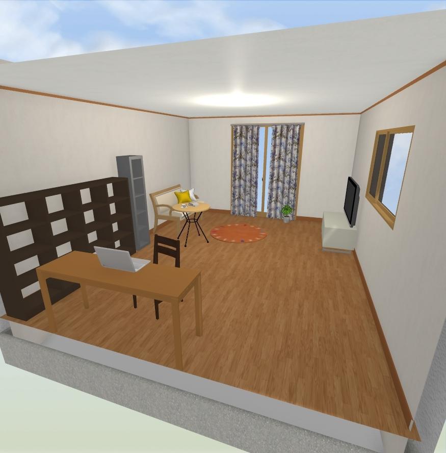図面、3Dパースを短時間、低価格で提供致します 3Dマイホームデザイナープロを使った図面、3Dパースの制作