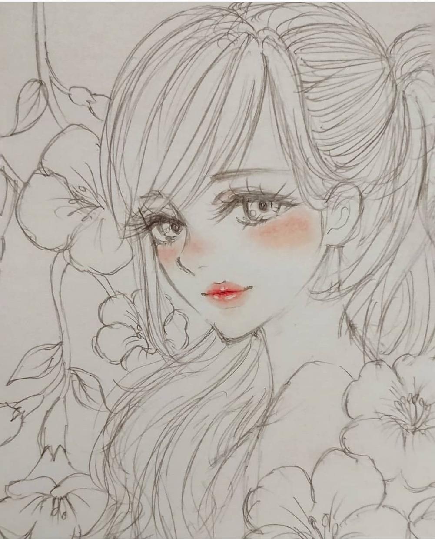 手描きで貴方だけの可愛い女の子、お描きします 眺めるだけで癒される、女の子達♡♡