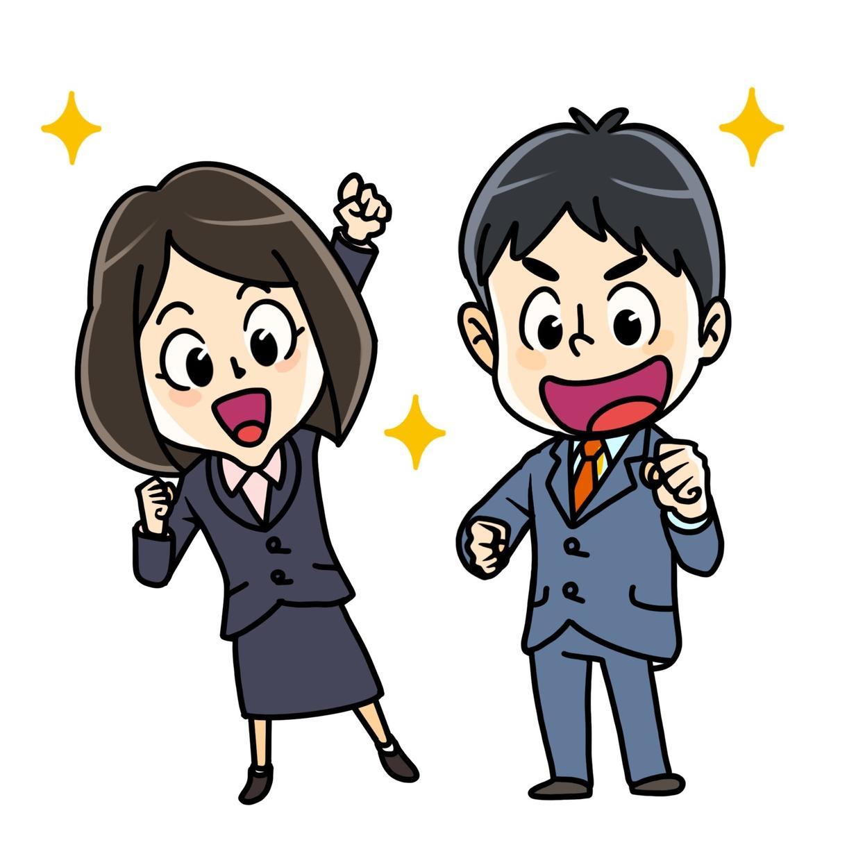かわいい漫画風の似顔絵描きます SNSアイコン、名刺、ウェルカムボード│漫画キャラクター風 イメージ1