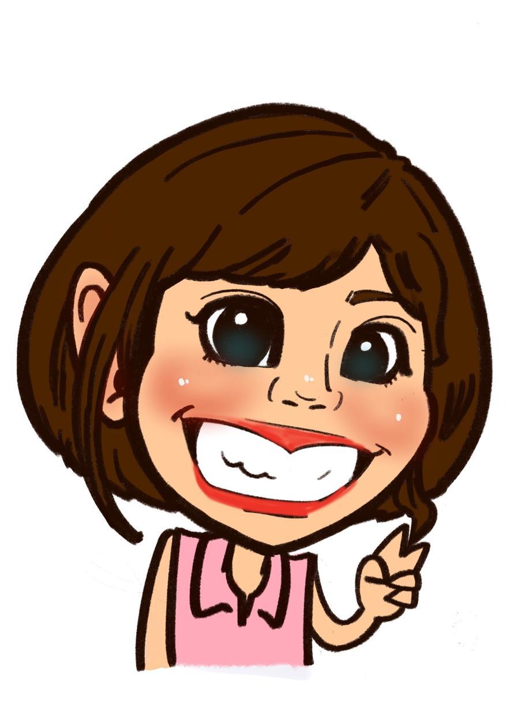 特徴をデフォルメした面白可愛い似顔絵をお描きします 面白かわいい似顔絵をアイコンに!