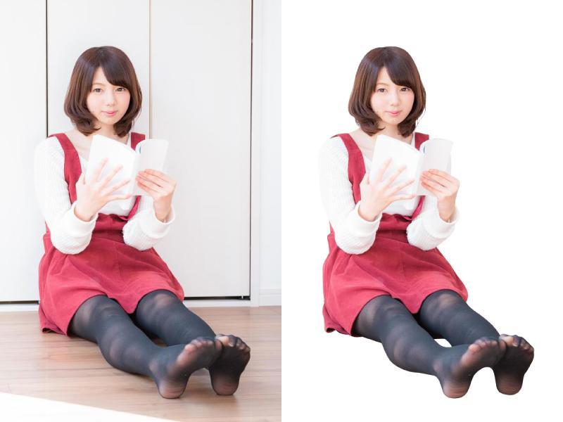 写真の切り抜きをします 《JPEG・PNGなど》背景白抜きや透過画像の作成ができます