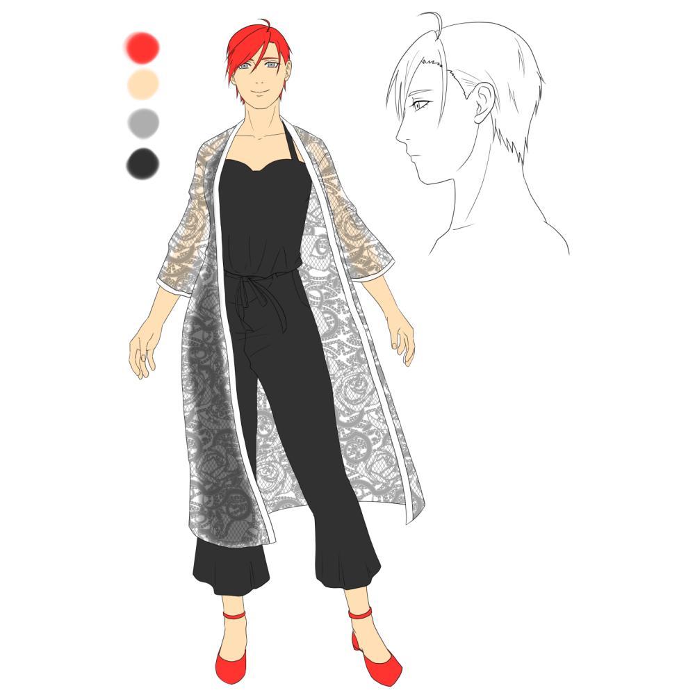 あなたのキャラクターを描き起こします イラストにしてみんなに見てもらいましょう!