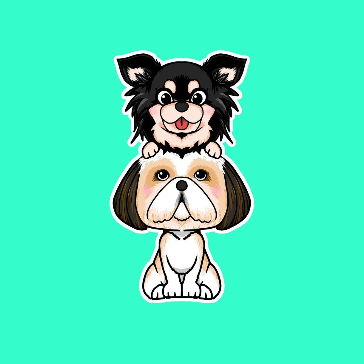 好きな動物やかわいいペットのSNSアイコン描きます 服を着せたり小物をつけたりかわいく描きます!修正回数無制限