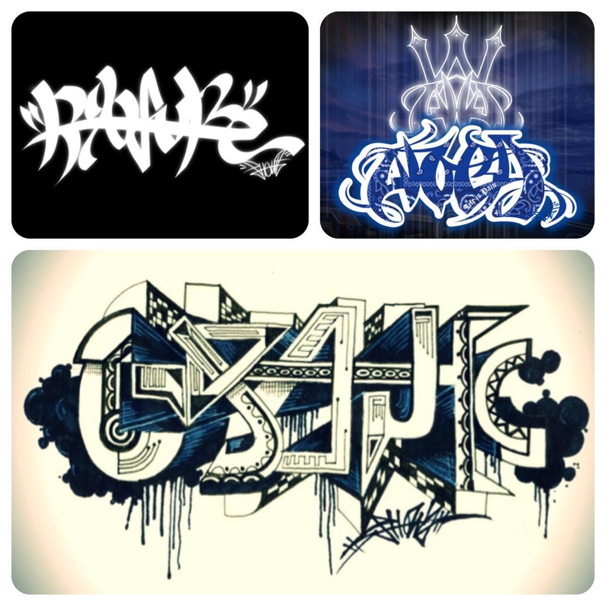 オリジナルグラフィティーアート作成します Tシャツやチームのロゴ、画像などオリジナルのロゴ作りたい方へ