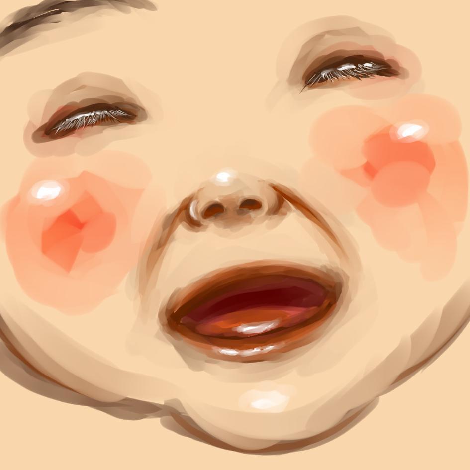 赤ちゃんの似顔絵イラスト描きます 誕生祝、お披露目、プレゼントの素材にも
