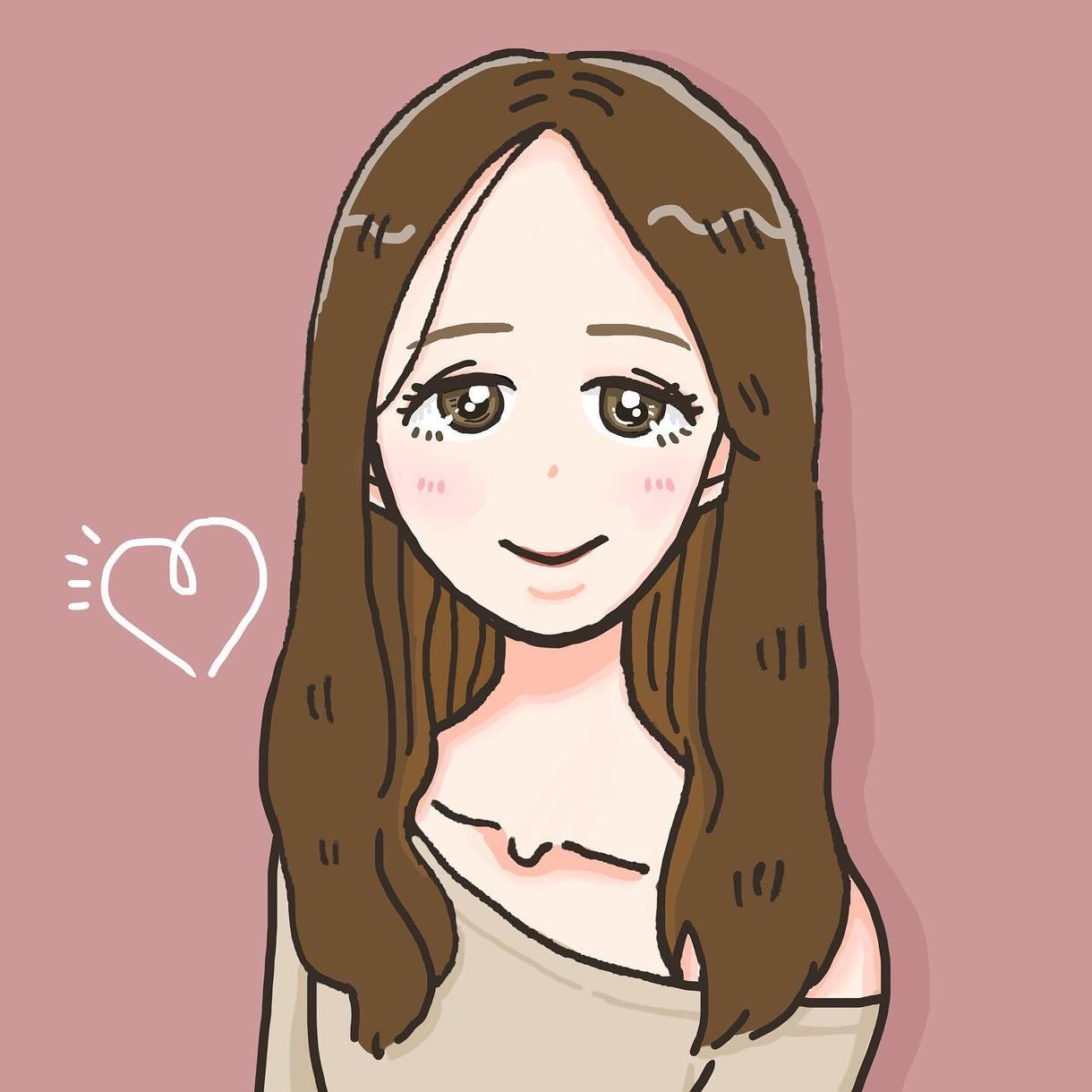 SNSのアイコンや似顔絵を可愛く描きます あなたの似顔絵をアイコンにしませんか?
