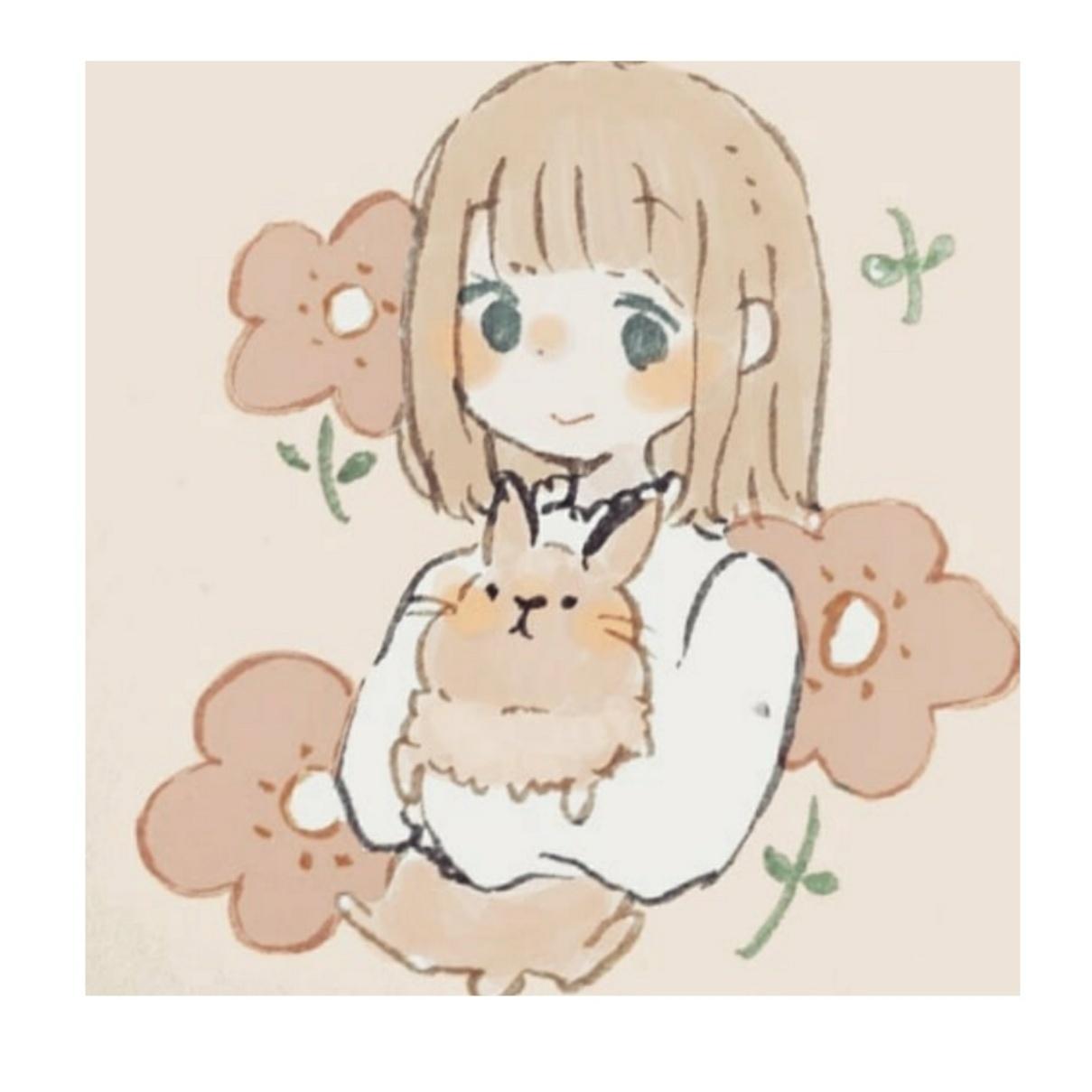 SNSなどで使える動物と女の子のアイコンを書きます 似顔絵やオリキャラ、親子のアイコンなどお受けします。