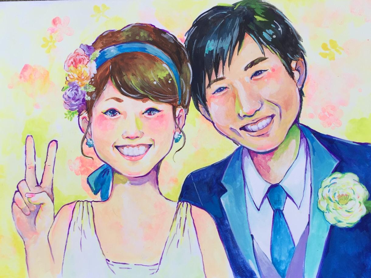 似顔絵ウェルカムボードなど作成します 結婚式、定年祝いなど人生の節目にオススメです