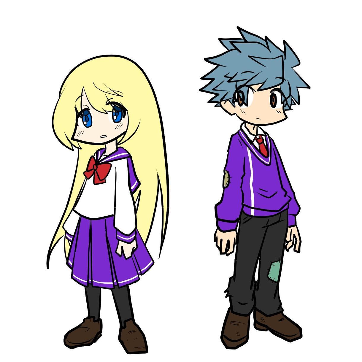 ポップなイラストでキャラクターのみ描きます 正方形の中にキャラクターをバストアップで描きます