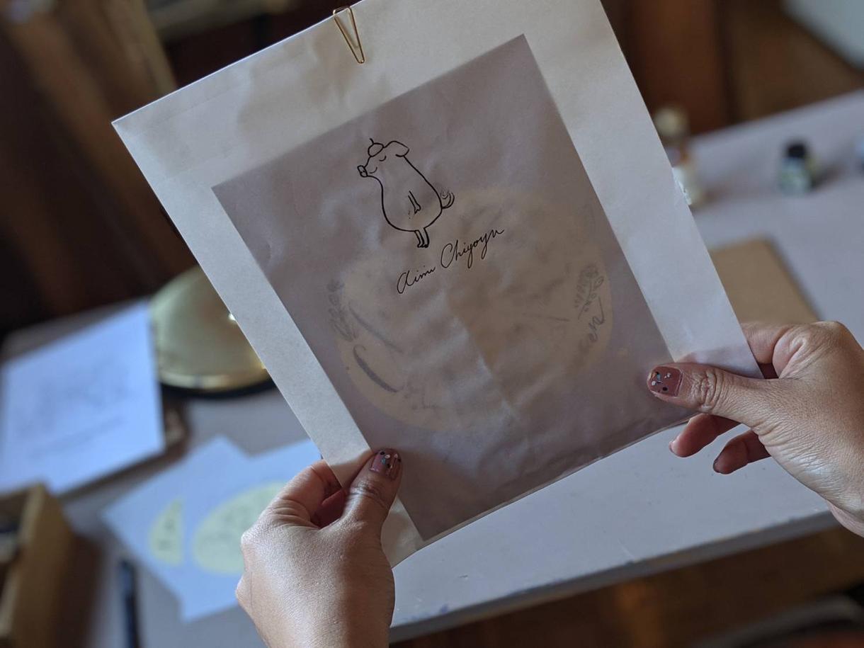 ご自宅や大切なあの人に似顔絵レターパックが届きます ギフトや記念に♪海外の絵本のようにお洒落なお手紙ふうの似顔絵