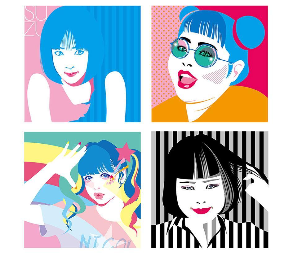 ポップでアートなデザイン似顔絵制作いたします プロフィール画像・SNSアイコンに最適。プレゼントにも!
