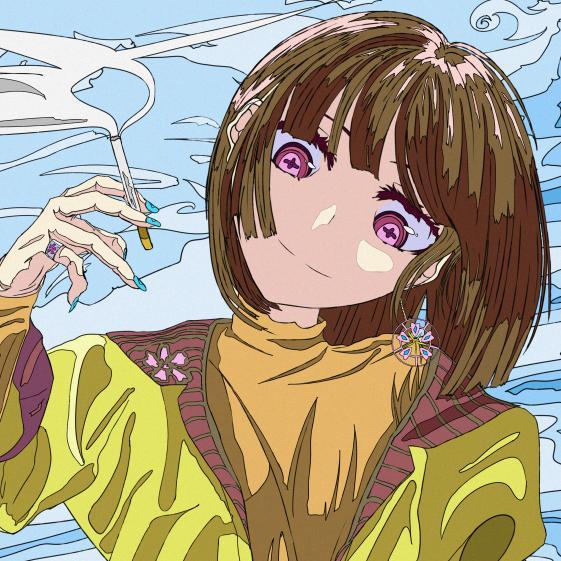 SNS用アイコン、描きます 日本画と現代イラストを組み合わせたレトロな絵柄 イメージ1