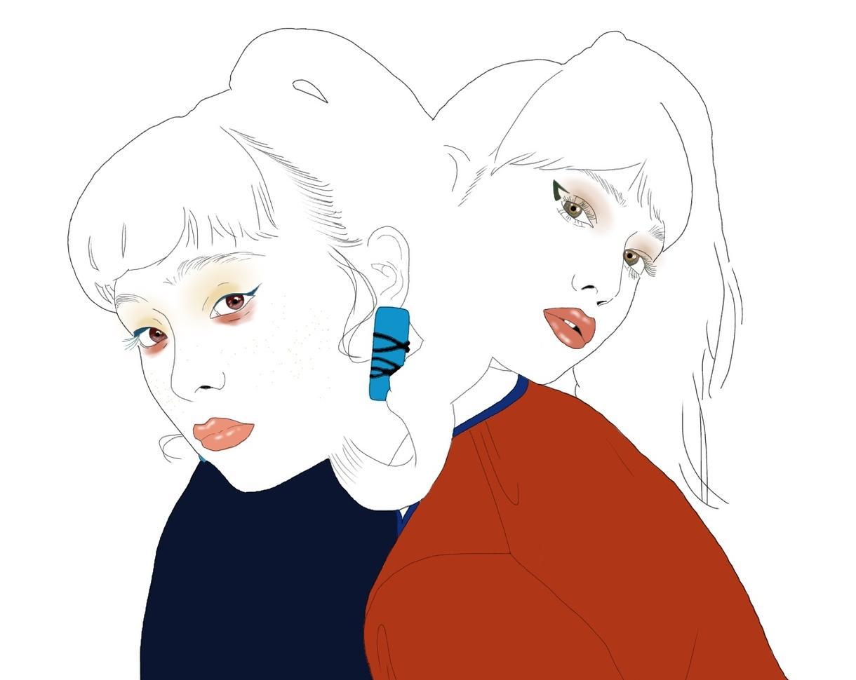 似顔絵、アイコンイラスト描きます シンプルな線画のイラストをメインに描いております。