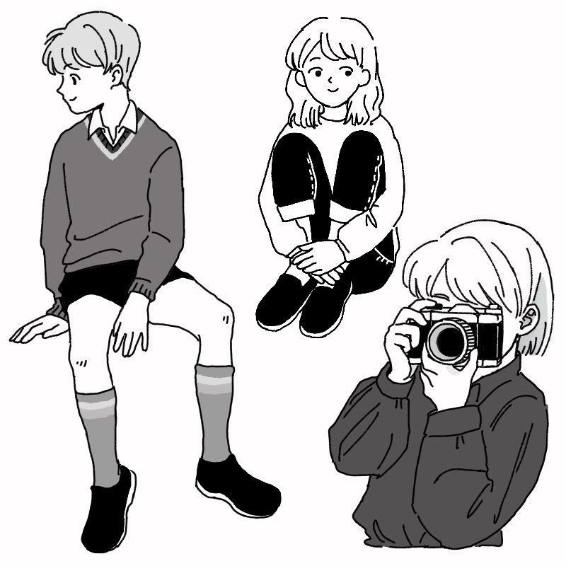 シンプルなイラストを描きます SNS、ブログなどのアイコンや挿絵にどうぞ!