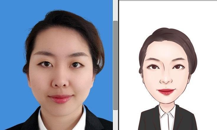 低価格で名刺・SNSに最適な似顔絵を作成します 名刺のワンポイントに!SNSのプロフィール画像!年賀状、に!