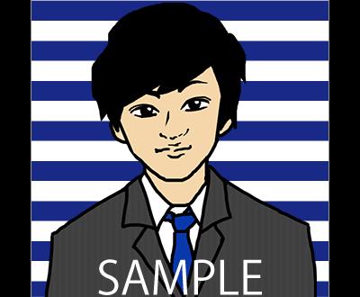 シンプル且つ明瞭!アイコン用似顔絵描きます SNS用等で使用できるシンプル且つはっきりとした似顔絵!