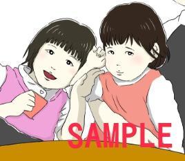 写真をそのままイラストに!似顔絵描きます 写真と同じ構図の似顔絵制作です。アイコンやプレゼントにも!