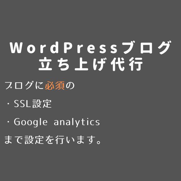 WordPressブログの立ち上げ代行します ブログの立ち上げからSSL設定、アナリティクス設定まで。 イメージ1