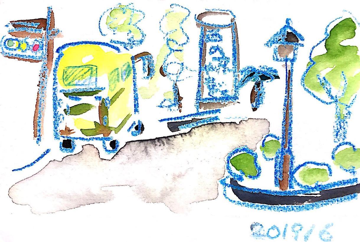 手描きイラスト、手描き風デザインをします 画材は、水彩、アクリル、色鉛筆など色々組み合わせて描きます。