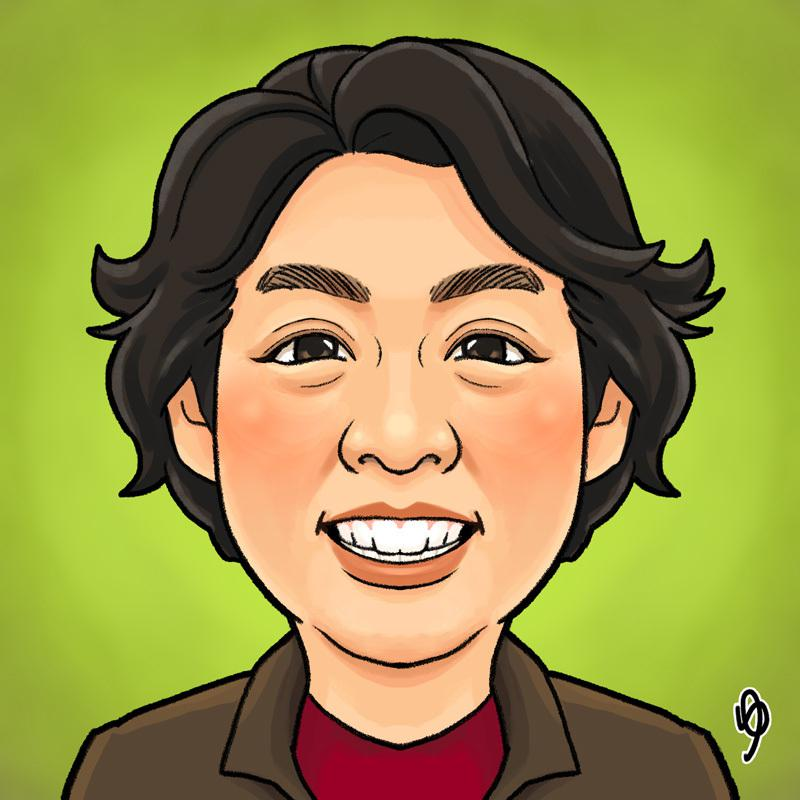 プロイラストレーターが★似顔絵アイコンお描きします 各種SNSやBlogで使える! 程よい描き込みの似顔絵 !