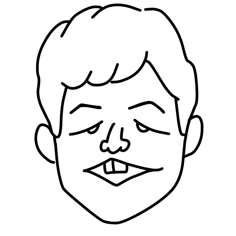 少しラフな似顔絵描きます アイコンなどに使えるちょっとした似顔絵を描きます! イメージ1
